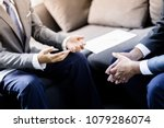 business people talking... | Shutterstock . vector #1079286074