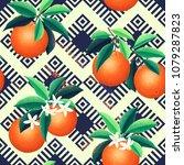 ethnic geometric ornamental... | Shutterstock .eps vector #1079287823