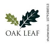 oak leaf vector logo isolated.... | Shutterstock .eps vector #1079288513