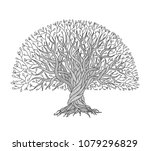 big tree with roots for your... | Shutterstock .eps vector #1079296829