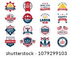 labor day vector label for... | Shutterstock .eps vector #1079299103