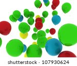 flying colorful party balloons... | Shutterstock . vector #107930624