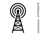 radio tower   mast with radio... | Shutterstock .eps vector #1079306678