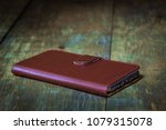 genuine leather smartphone case ... | Shutterstock . vector #1079315078