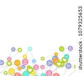 social media marketing ... | Shutterstock .eps vector #1079325653
