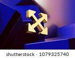 pretty golden arrows icon with...