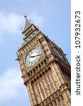 Close Up Of Big Ben Clock Towe...