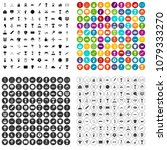 100 medal icons set vector in 4 ... | Shutterstock .eps vector #1079333270