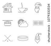 injury icons set. outline set... | Shutterstock .eps vector #1079333534