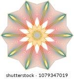 delicate wireframe guilloche... | Shutterstock .eps vector #1079347019
