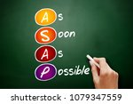 Small photo of ASAP - As Soon As Possible acronym, business concept on blackboard
