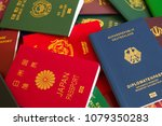 various passports of citizens... | Shutterstock . vector #1079350283