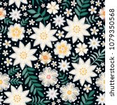 embroidery seamless floral...   Shutterstock .eps vector #1079350568