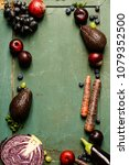assortment raw organic of...