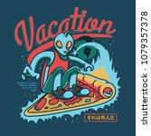 vacation mode illustration | Shutterstock .eps vector #1079357378