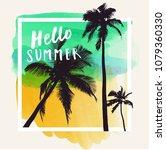 hello summer. modern... | Shutterstock .eps vector #1079360330