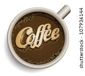 vector realistic cup of coffee... | Shutterstock .eps vector #107936144