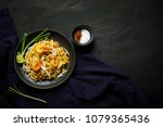 thai traditional food  pad thai ... | Shutterstock . vector #1079365436