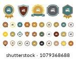 vector tractor icon | Shutterstock .eps vector #1079368688