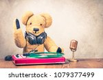 teddy bear toy with old... | Shutterstock . vector #1079377499