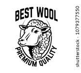sheep wool factory emblem... | Shutterstock .eps vector #1079377550