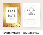 luxury wedding invitation cards ... | Shutterstock .eps vector #1079381969