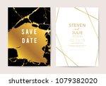 luxury wedding invitation cards ... | Shutterstock .eps vector #1079382020