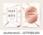 luxury wedding cards with... | Shutterstock .eps vector #1079386184