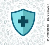 hygienic shield protecting from ... | Shutterstock .eps vector #1079386214