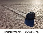 Racing track, Death Valley - stock photo