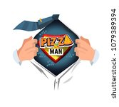 "man open shirt to show ""pizza""... 