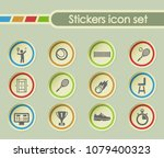 tennis simple vector icons on...   Shutterstock .eps vector #1079400323