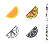 orange slice fruit illustration ... | Shutterstock . vector #1079405849