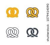 pretzel bakery pastry food... | Shutterstock . vector #1079414090