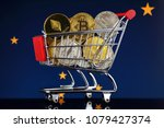 shopping trolley full of... | Shutterstock . vector #1079427374