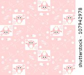 cute floral seamless background ... | Shutterstock . vector #107942978