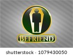 gold emblem with dead man in... | Shutterstock .eps vector #1079430050