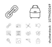 package icons set with oven ...