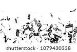 musical notes on white... | Shutterstock .eps vector #1079430338