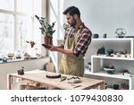 small business owner. handsome...   Shutterstock . vector #1079430830