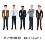 handsome businessmen formal... | Shutterstock .eps vector #1079431349