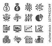 investment money finance icon... | Shutterstock .eps vector #1079432249