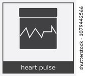heart pulse icon isolated on... | Shutterstock .eps vector #1079442566