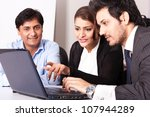 group of multi racial business... | Shutterstock . vector #107944289