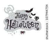 hand drawn halloween lettering. ... | Shutterstock .eps vector #107944754