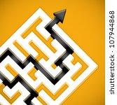 problem solving maze solution. | Shutterstock .eps vector #107944868