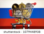 shopping trolley full of... | Shutterstock . vector #1079448938