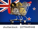 shopping trolley full of... | Shutterstock . vector #1079449448