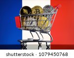 shopping trolley full of... | Shutterstock . vector #1079450768