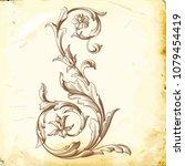 retro baroque decorations... | Shutterstock .eps vector #1079454419